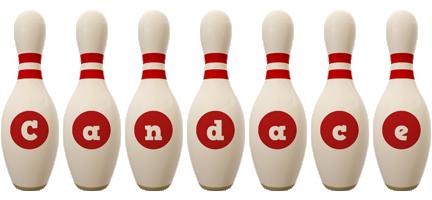 Candace bowling-pin logo