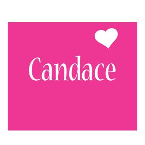 Candace love-heart logo