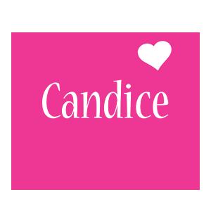 Candice love-heart logo