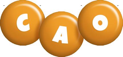 Cao candy-orange logo
