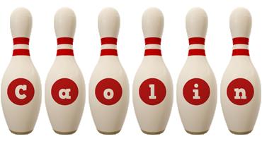Caolin bowling-pin logo