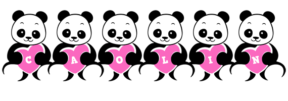 Caolin love-panda logo