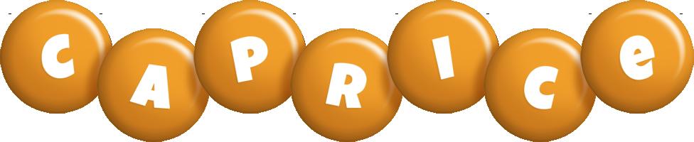 Caprice candy-orange logo