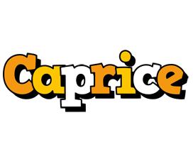 Caprice cartoon logo