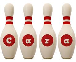 Cara bowling-pin logo