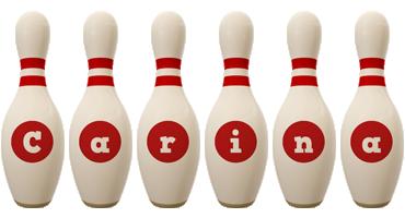 Carina bowling-pin logo