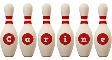 Carine bowling-pin logo