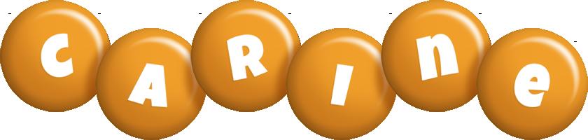 Carine candy-orange logo