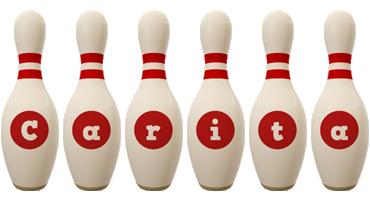 Carita bowling-pin logo