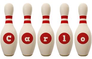 Carlo bowling-pin logo