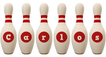 Carlos bowling-pin logo