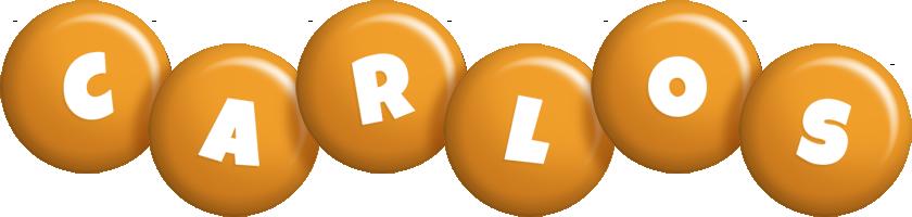 Carlos candy-orange logo