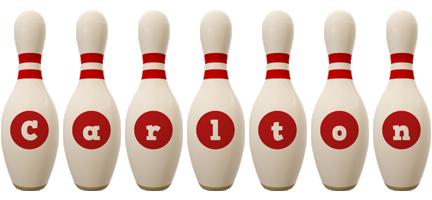 Carlton bowling-pin logo