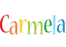 Carmela birthday logo