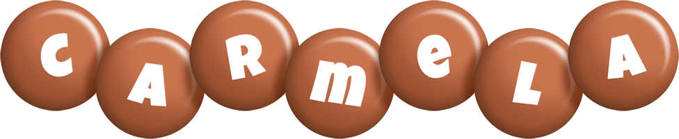 Carmela candy-brown logo