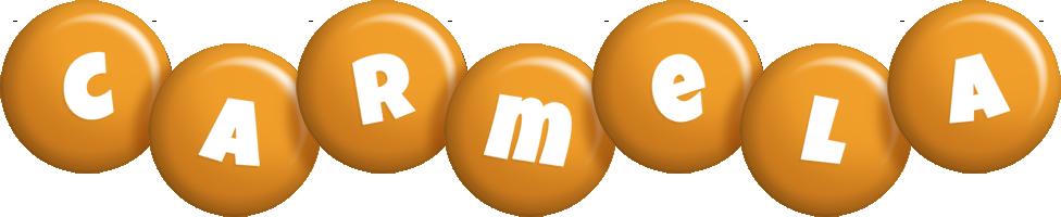 Carmela candy-orange logo