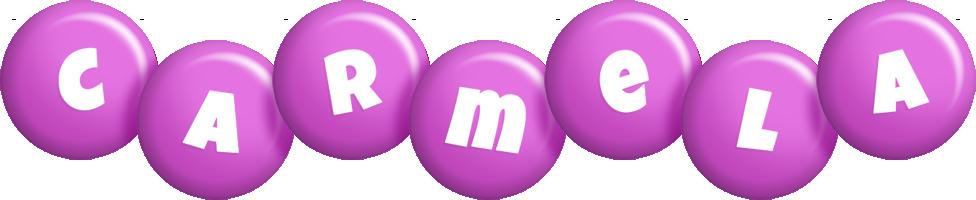 Carmela candy-purple logo
