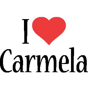 Carmela i-love logo
