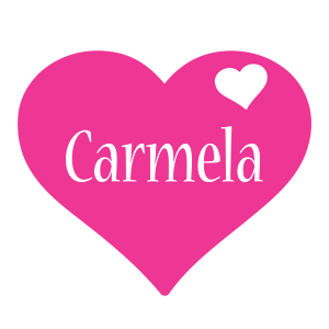 Carmela love-heart logo