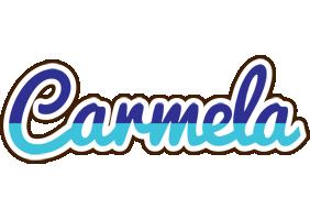 Carmela raining logo