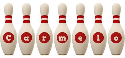 Carmelo bowling-pin logo