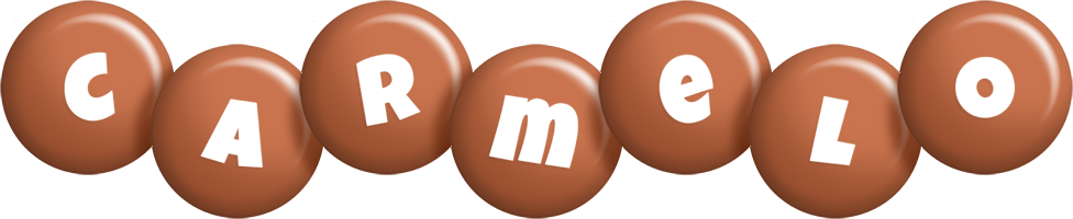 Carmelo candy-brown logo