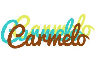 Carmelo cupcake logo
