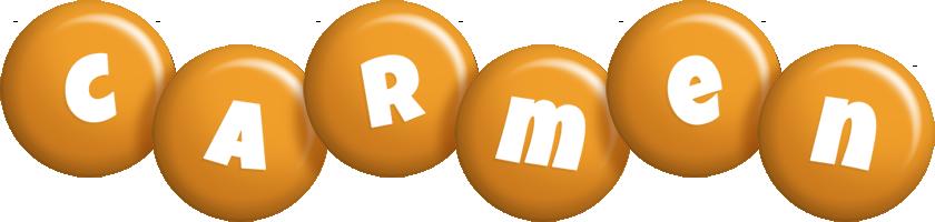 Carmen candy-orange logo