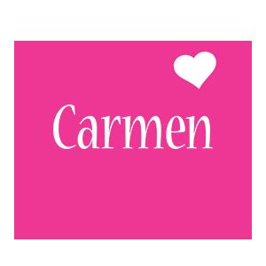 Carmen love-heart logo