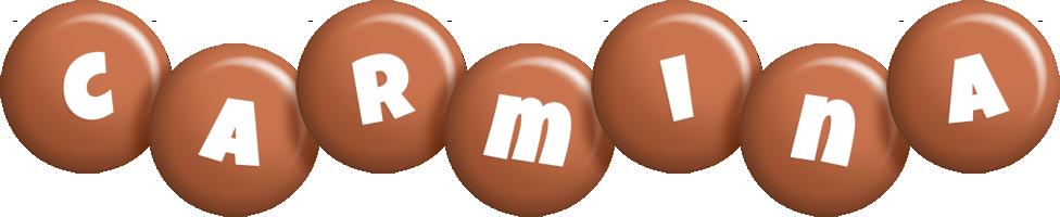 Carmina candy-brown logo