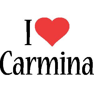 Carmina i-love logo
