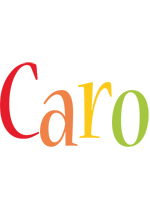 Caro birthday logo