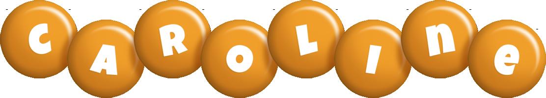 Caroline candy-orange logo