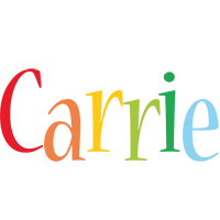 Carrie birthday logo