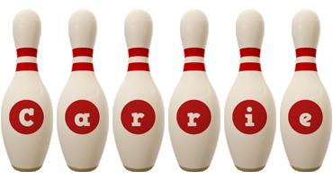 Carrie bowling-pin logo