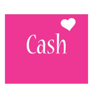 Cash love-heart logo