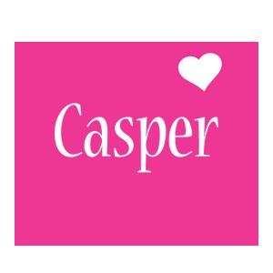 Casper love-heart logo