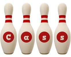 Cass bowling-pin logo