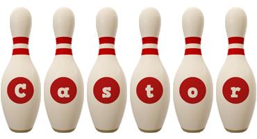 Castor bowling-pin logo