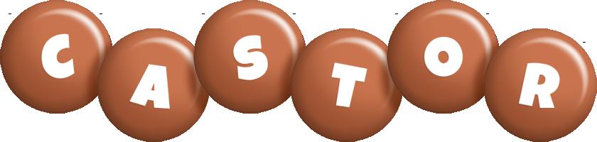 Castor candy-brown logo