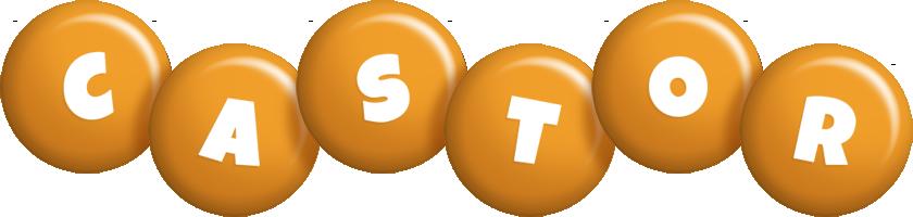 Castor candy-orange logo