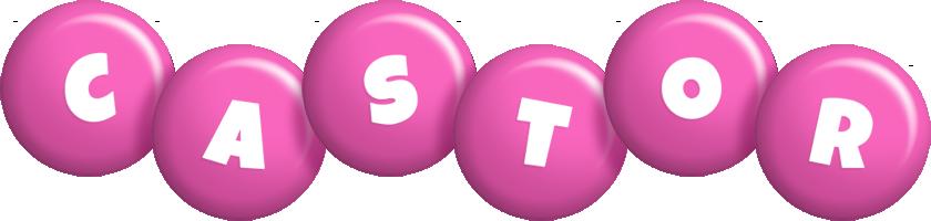 Castor candy-pink logo
