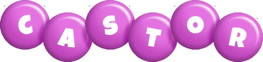 Castor candy-purple logo