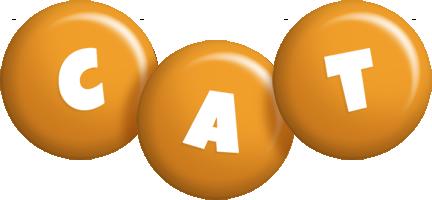 Cat candy-orange logo