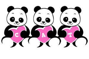 Cat love-panda logo