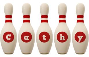 Cathy bowling-pin logo