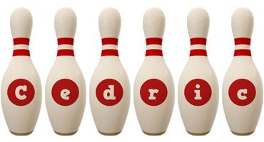 Cedric bowling-pin logo