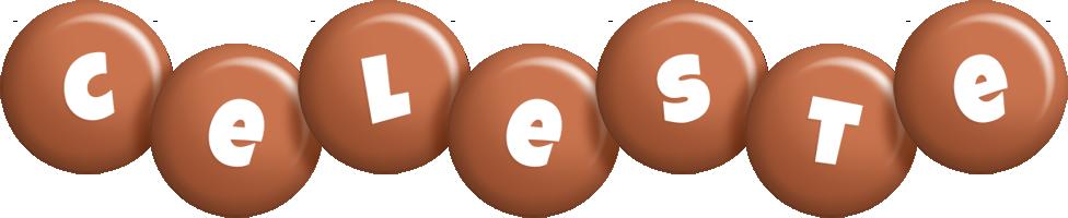 Celeste candy-brown logo