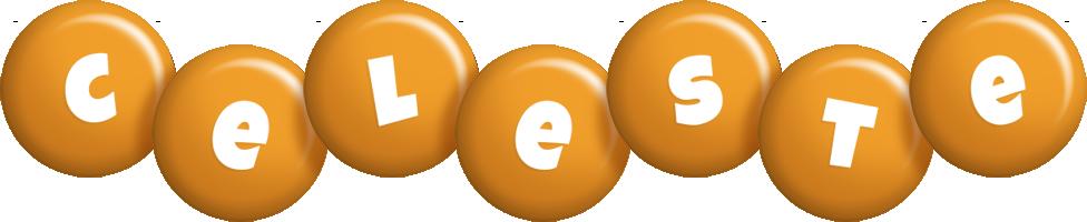Celeste candy-orange logo