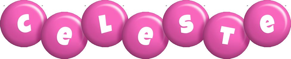 Celeste candy-pink logo